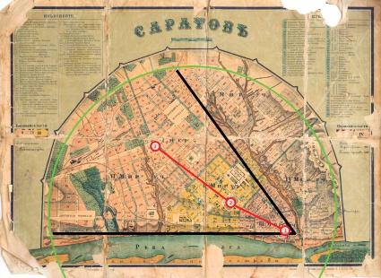 План Саратова. 1882